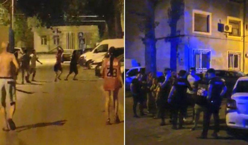 Bărbat rupt în bătaie pe o stradă din București, după o ceartă între copii