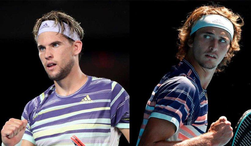 Finala de tenis US Open se va juca între Dominic Thiem și Alexander Zverev