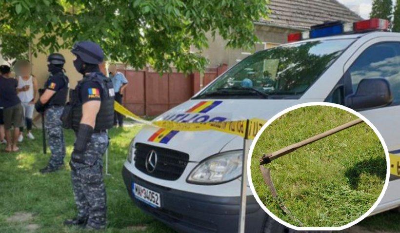 Un bărbat care şi-a omorât vecinul cu coasa, arestat la domiciliu. Judecătorii au respins cererea procurorilor de încarcerare