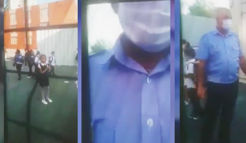 """Tată amendat de poliţişti după ce a refuzat să-i pună copilului masca de protecţie la şcoală: """"Copilul meu trebuie să respire liber!"""""""