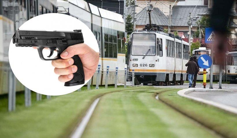 Un vatman din Bucureşti a fost împuşcat de un şofer supărat că i-ar fi închis uşa în nas unui călător