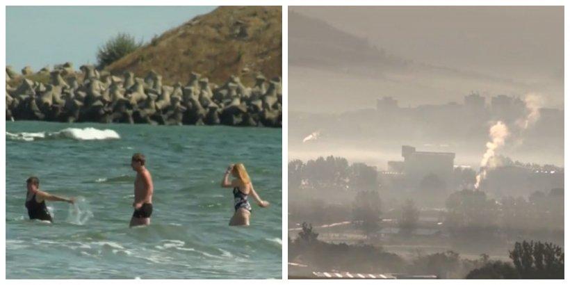 Două anotimpuri într-o zi! Pe litoral turiştii s-au bălăcit în mare, iar la Miercurea Ciuc au fost -3 grade Celsius