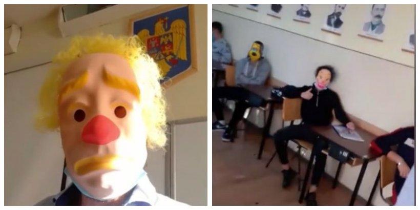"""Profesorul mascat explică protestul controversat: """"În ce stat trăim, dacă nici măcar aşa libertate de exprimare nu mai poţi să o ai"""""""