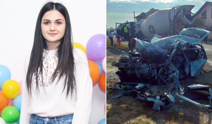Lacrimi și durere pentru Roxana, tânăra de 19 ani ucisă într-un cumplit accident în Basarabi