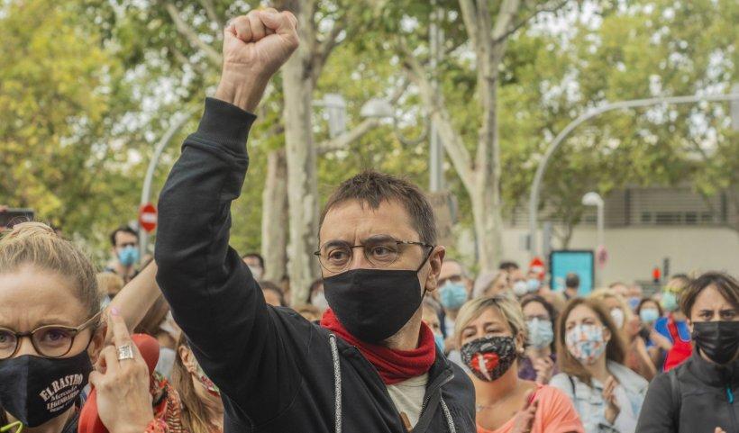 Proteste violente la Madrid din cauza restricțiilor sanitare