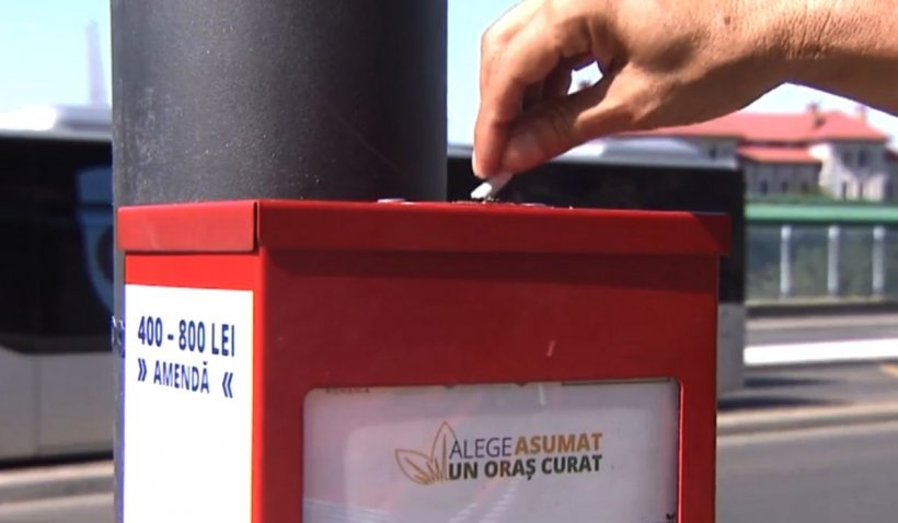 Scrumiere speciale instalate în Constanța. Chiștoacele sunt valorificate energetic