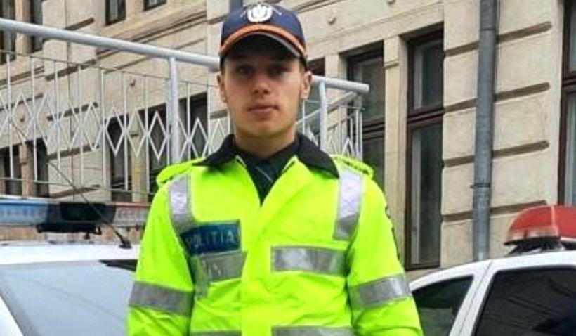 Andrei, un viitor polițist, a salvat de la moarte doi polițiști și un jandarm dintr-o mașină în flăcări