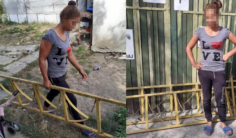 Doi tineri din Constanţa au smuls gardul unui loc de joacă pentru a-l pune la ei la curte