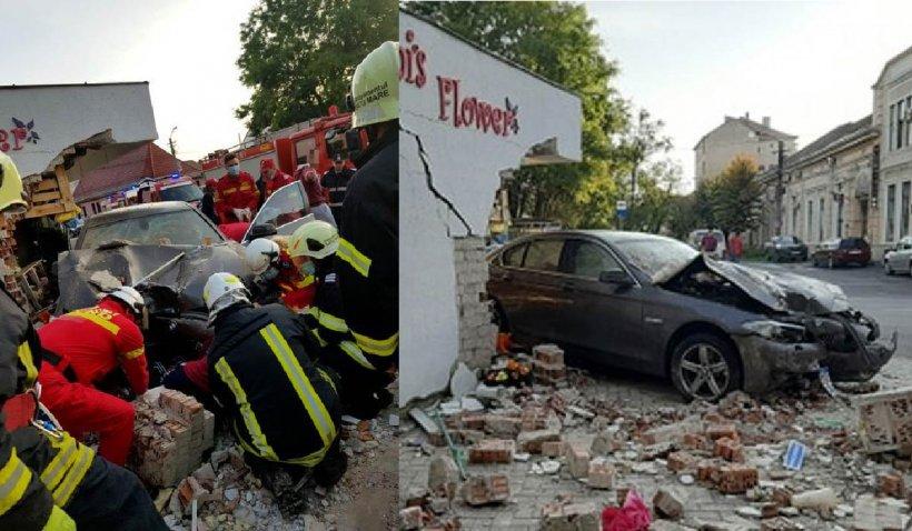 O femeie a fost ucisă într-o florărie din Satu Mare de un șofer cu BMW