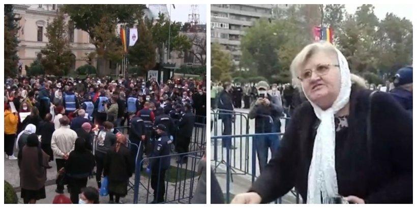 Lacrimi şi revoltă la pelerinajul interzis din Iaşi: ''La vot am fost buni? Să vă fie rușine!''