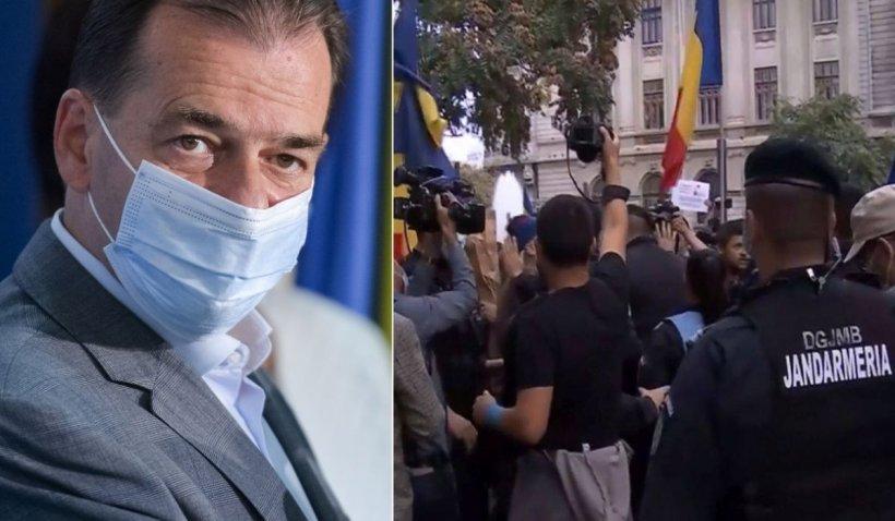 """Orban, reacție la protestul anti-mască de la Universitate. """"Ce să fac, să îi dispersez? Legea va fi aplicată! E un protest împotriva sănătății"""""""