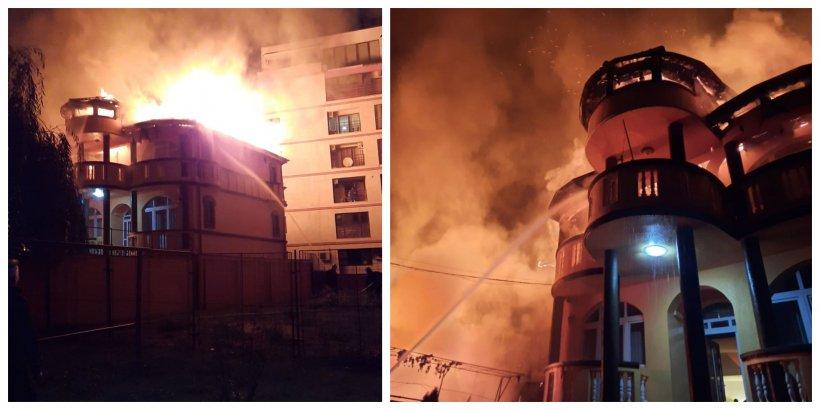 Incendiu puternic în centrul Capitalei! Un copil de 14 ani a murit carbonizat într-o vilă din Sectorul 3