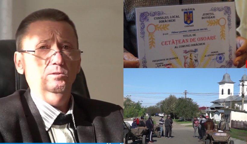 Primarul care nu a avut curaj să intre în toaleta şcolii şi-a numit 35 de prieteni cetăţeni de onoare. Clopotarul satului şi 4 consilieri, printre premiaţi