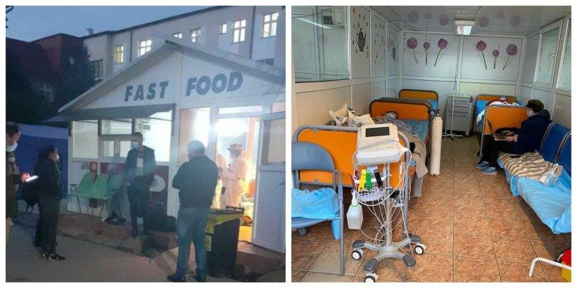 Spitalul de Urgență din România care primește bolnavii de COVID într-un chioșc de fast-food dezafectat