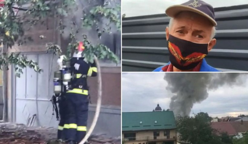 """Explozie uriașă în Timișoara, după un accident și o lucrare de mântuială: """"Am crezut că e cutremur. M-a aruncat în sus!"""""""