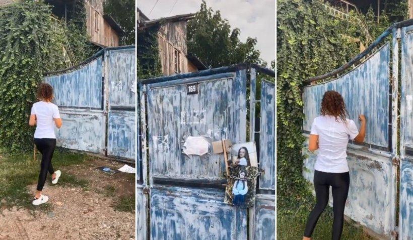 """Tânără filmată în fața casei lui Gheorghe Dincă din Caracal pentru TikTok: """"Am venit să cumpăr caș"""""""