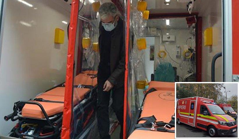 SMURD Bihor a conceput o autospecială care poate transporta doi pacienţi aflaţi în stare critică, inclusiv cei cu coronavirus