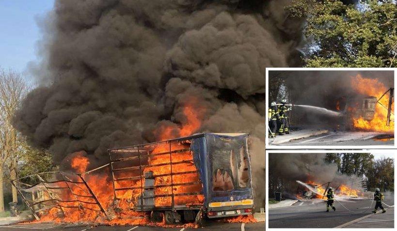 Un şofer de TIR a luat foc în timp ce gătea în cabina camionului, într-o parcare din Germania