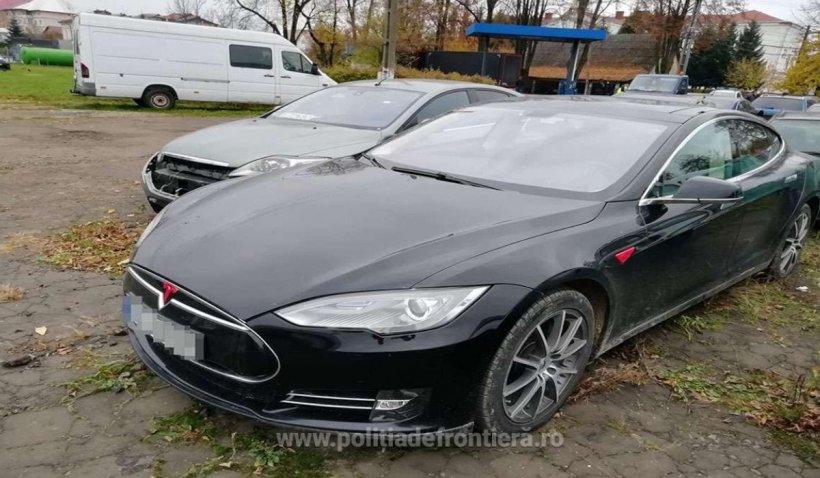 O mașină Tesla de 250.000 de lei, căutată de autoritățile din Norvegia, a fost găsita în Suceava