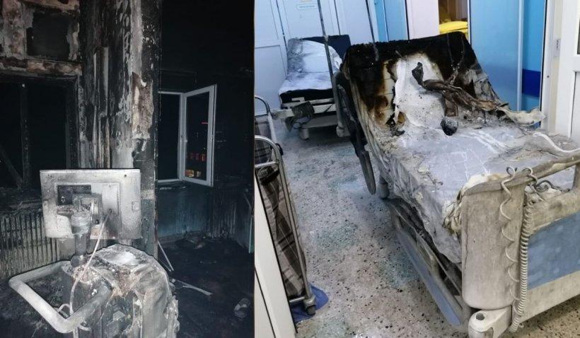 Amănunte terifiante din salonul morţii: Un pacient carbonizat în zona de unde a pornit focul