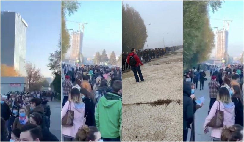 Coadă uriașă la examenul de rezidențiat: mii studenți la medicină au așteptat să intre la examen