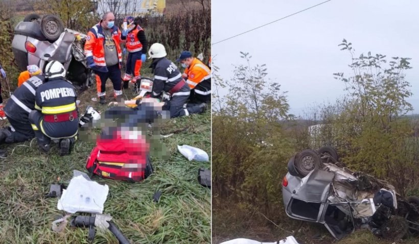 Soțul unei asistente de la Ambulanța Vaslui, mort într-un accident grav. Bărbatul, găsit chiar de colegii soției