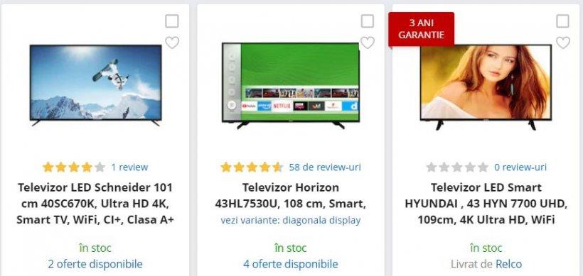 eMAG reduceri. 3 televizoare 4K Ultra HD sub 1.200 de lei