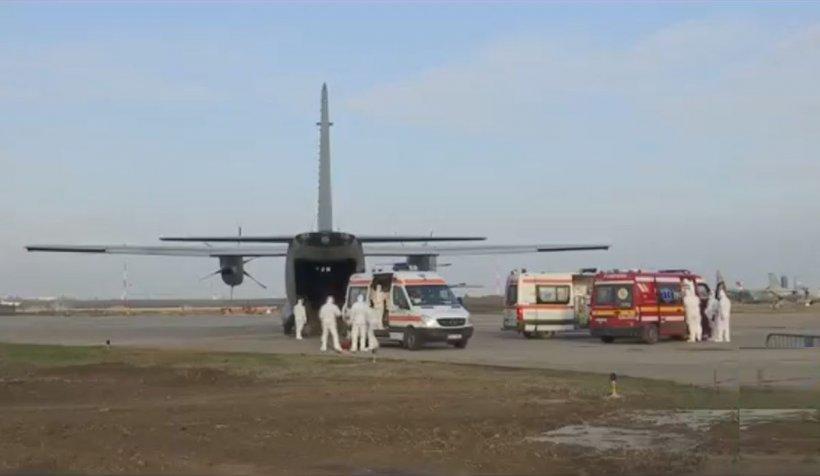 Situaţie extremă în Capitală: 5 bolnavi de COVID, duşi cu avionul la Iaşi şi Bacău pentru că nu mai sunt locuri la ATI