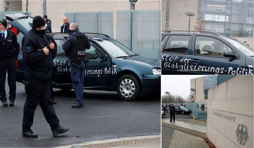 Un individ a intrat cu maşina în clădirea Cancelariei din Berlin, unde Angela Merkel discuta măsuri anti-COVID
