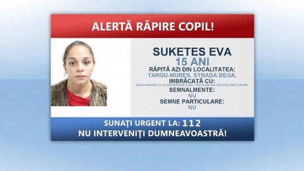 Fata de 15 ani, răpită în Târgu Mureș, a fost găsită