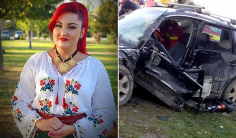 """Cântăreața Denisa Gog a murit la 22 de ani, într-un cumplit accident în Timiș: """"Dumnezeu te-a vrut alături de el"""""""