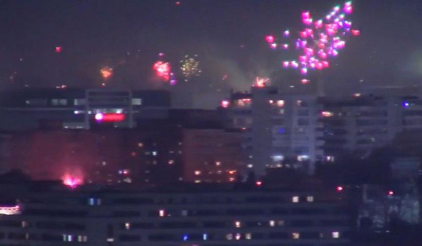Spectacol impresionant de artificii în noaptea de Anul Nou. La mulţi ani, 2021!