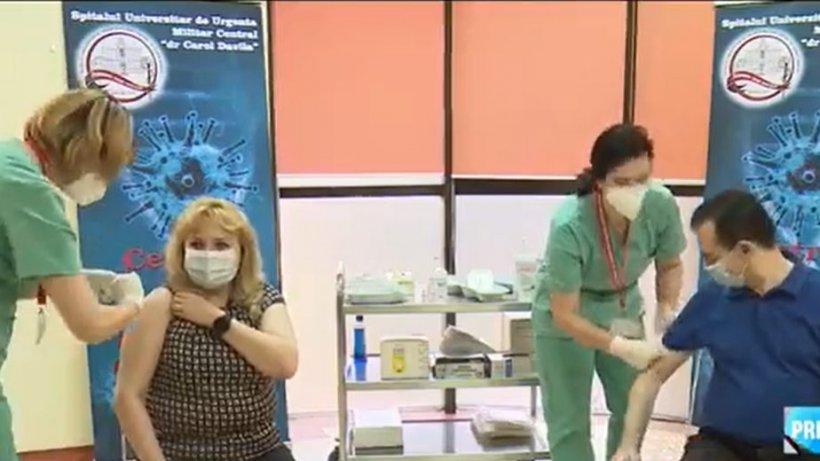 """Ludovic Orban și Anca Dragu s-au vaccinat împotriva coronavirusului. Orban: """"Am luat decizia de a mă vaccina..."""""""