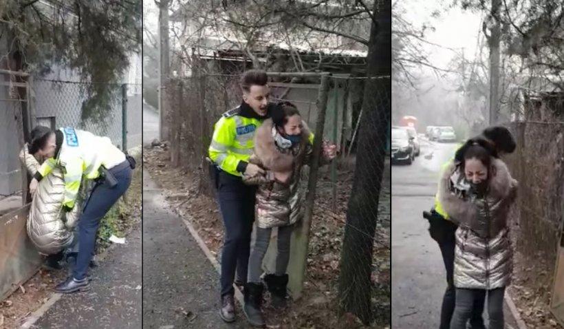 Un poliţist a încătuşat cu forţa o minoră care vindea ghiocei în Capitală. Şefii agentului au deschis o anchetă