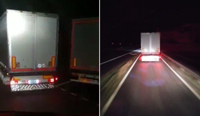 Şofer român de TIR abandonat de coleg într-o parcare în Franţa, după ce au fost prinşi în timp ce furau motorină