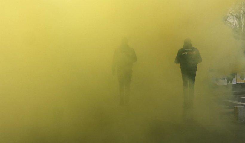 Scandal între poliţişti şi jandarmi la protestul de la Palatul Cotroceni: Sunteţi stat în stat?
