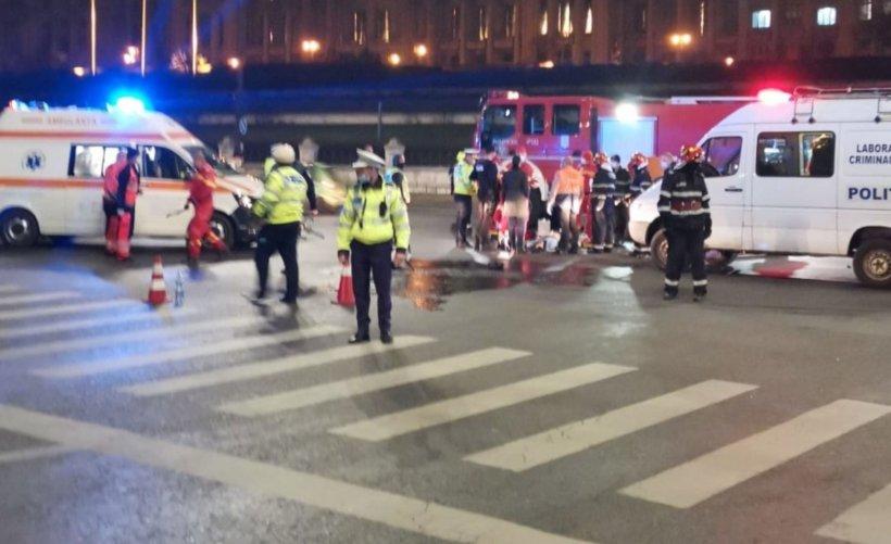 Accident grav, joi seară, în fața Parlamentului. Un motociclist, polițist aflat în timpul liber, a murit pe loc