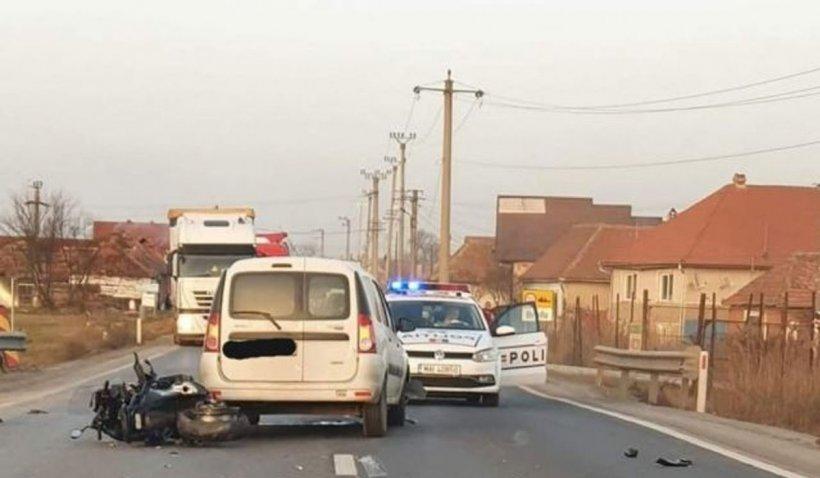 Accident în lanţpe DN 1! Sensul de mers Sibiu - Braşov a fostblocat