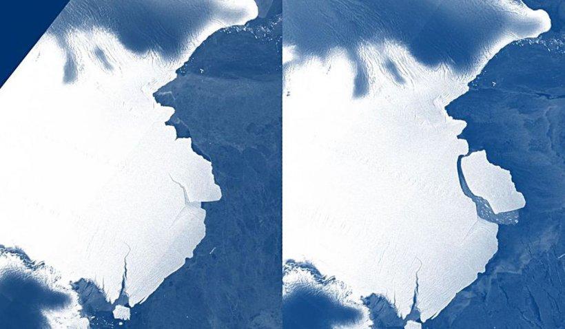 Un iceberg de peste 1.200 de kilometri pătraţi s-a desprins de Antarctica