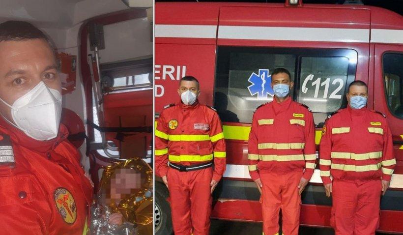 """O fetiță s-a născut pe DN 7, în ambulanța SMURD, la Arad. Salvator: """"Cea mai intensă senzaţie"""""""