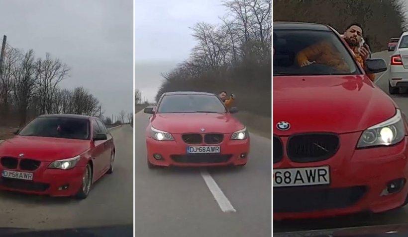 Şofer ameninţat cu pistolul de un tânăr cu BMW, într-o urmărire ca în filme lângă Craiova