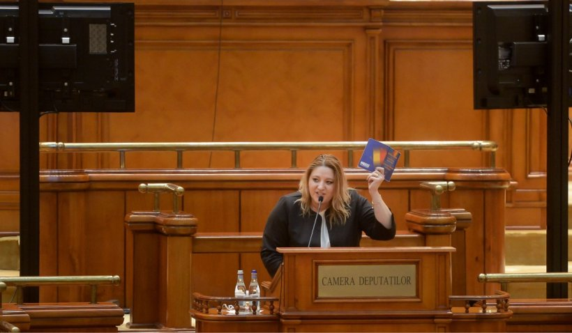 """Diana Șoșoacă în Parlament, despre bugetul pe 2021: """"De ce nu luați de la televiziuni să dați la copii, la alocații?"""""""