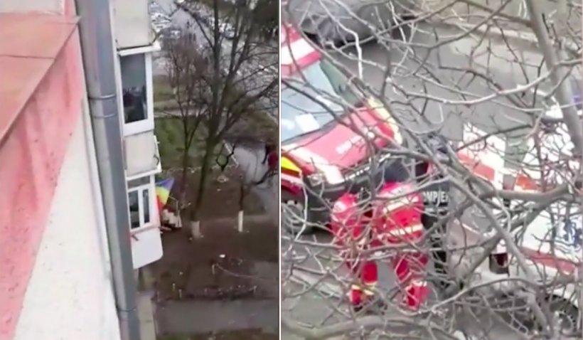 """Un alt martor a filmat momentul în care polițiștii au spart ușa criminalului din Onești: """"Mama! L-a înjunghiat. Gata! S-a zis cu el"""""""