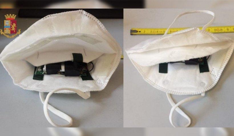 Italian prins cu o cameră video ascunsă în masca de protecţie. Voia să trișeze la examenul pentru permisul de conducere