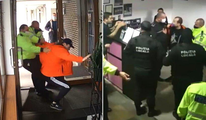 Momentul în care tatăl gimnastei Cătălina Ponor intră în conflict cu cei doi poliţişti