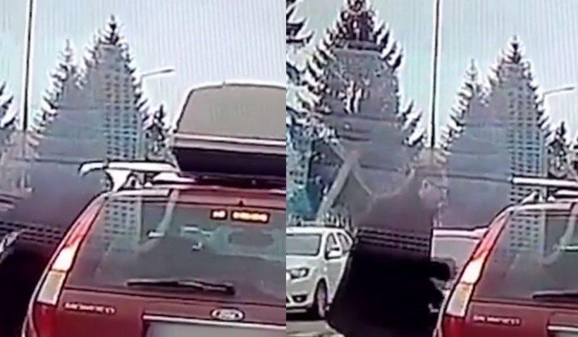 Un şofer a fost atacat în trafic lângă secţia de Poliţie din Vâlcea, momentul altercaţiei a fost surprins în imagini