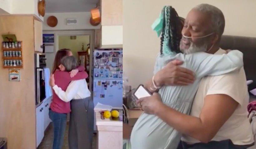 Nepoții își pot îmbrățișa, în sfârșit, bunicii: Imagini din Statele Unite cu reîntregirea familiilor după un an de pandemie