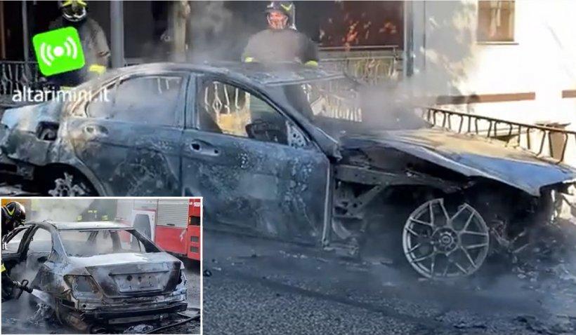 """Tânăr român salvat dintr-o maşină în flăcări de un carabinier: """"Ai fost îngerul meu păzitor"""""""