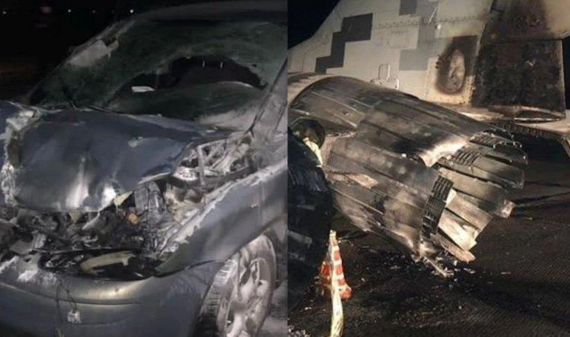 Accident între un Volkswagen şi un MiG-29 al Forțelor Aeriene din Ucraina