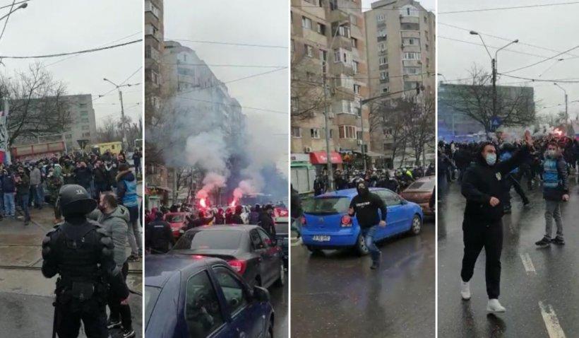 CSA Steaua - FCSB 2, derby de foc în Bucureşti. Sute de ultraşi, supravegheaţi de jandarmi